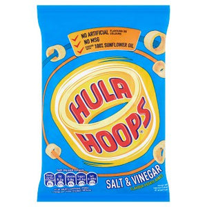 Hula Hoops Salt & Vinegar Flavour Potato Rings 34g