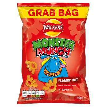 Monster Munch Flamin' Hot Snacks 40g