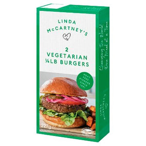 Linda McCartney's 2 Vegetarian 1/4 lb Burgers 227g  ( shop pick up only )