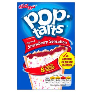 Kellogg's Pop Tarts Frosted Strawberry Sensation Toaster Pastries 8 pack 48g