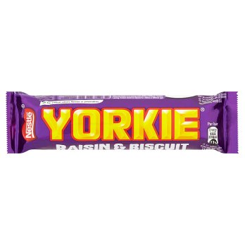 Yorkie Milk Chocolate Bar With Raisin And Biscuit 44g