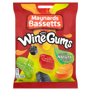 Maynards Bassetts Wine Gums Sweets Bag 190g