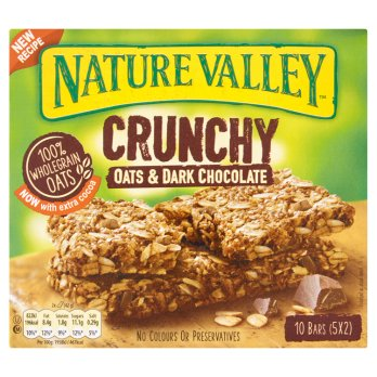 Nature Valley Crunchy Oats & Dark Chocolate Cereal Bars 5 x 42g