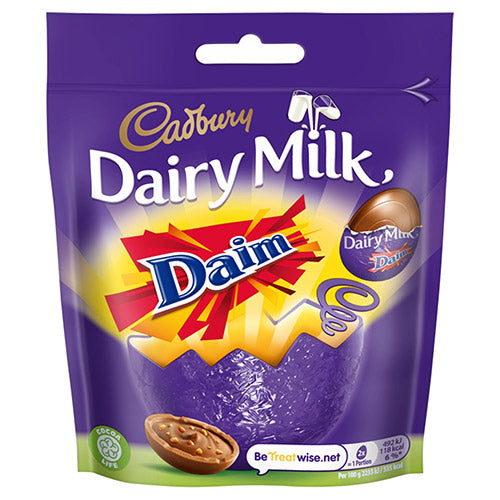 Cadbury Dairy Milk with Daim Mini Eggs Bag 77G