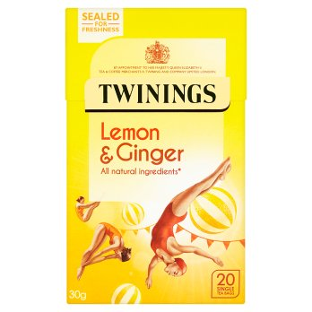 Twinings Lemon & Ginger 20 Single Tea Bags