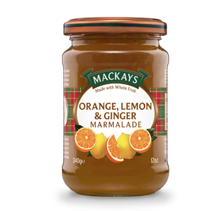 Mackays Orange & Lemon With Ginger Marmalade 340g