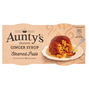 Aunty's Delicious Ginger Syrup Steamed Puds 2 x 95g