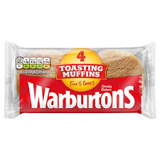 Warburtons Muffins 4pkt  (Shop pick-up only)