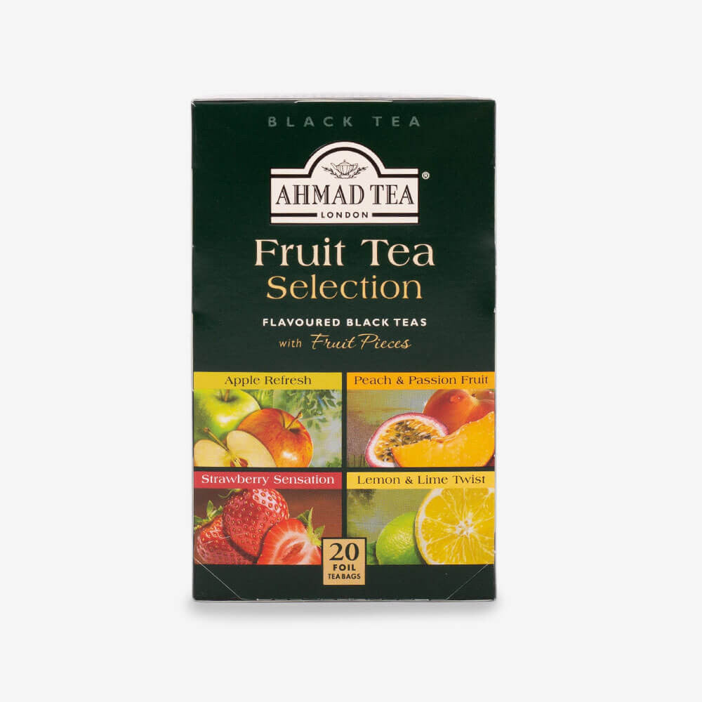 Ahmad Tea - Fruit Tea Selection of 4 Fruit Black Teas Teabags 20s
