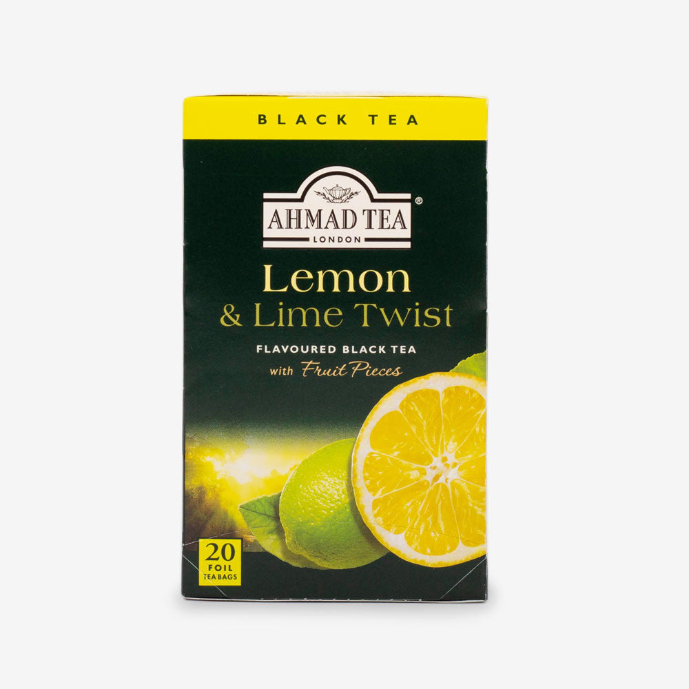 Ahmad Tea - Lemon & Lime Twist Fruit Black Teabags 20s
