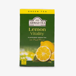 Ahmad Tea - Lemon Vitality Green Teabags 20s