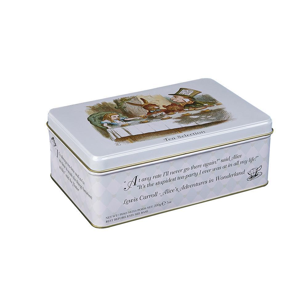 Alice In Wonderland tea tin with 100 Teabag Selection