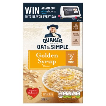 Quaker Oat So Simple Golden Syrup Porridge 10x36g