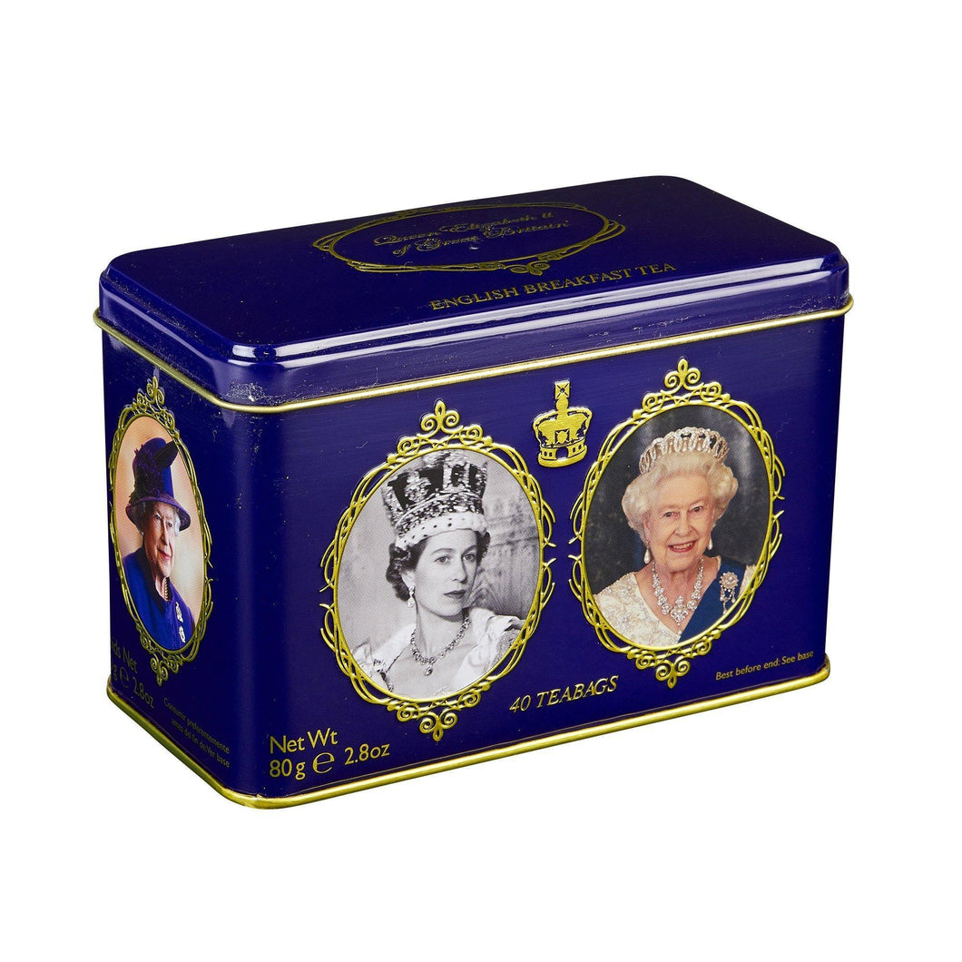 Queen Elizabeth II tea tin 40 English Breakfast teabags