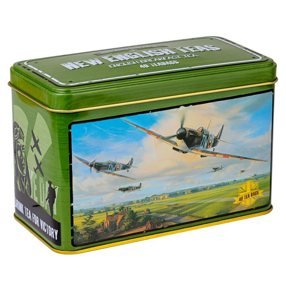 Spitfire tea tin 40 English Breakfast teabags