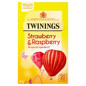 Twinings Strawberry & Raspberry 20 Single Tea Bags