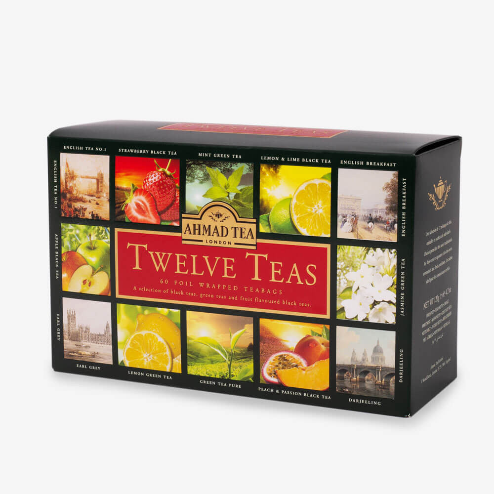 Ahmad Tea - Twelve Teas Collection of 12 Black, Fruit & Green Teas 60 Teabags