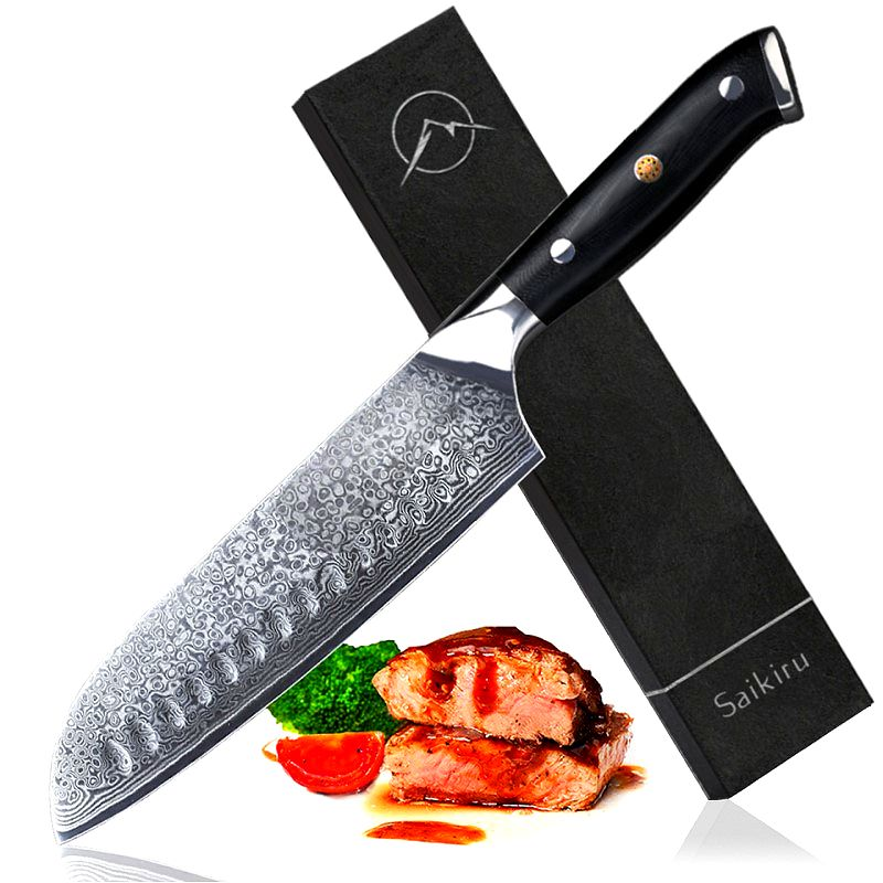 Santoku en Acier Damas - Collection Chef Sakai