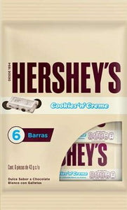 "Hershey""s  Chocolate Cookies and cream 6 pzas 30g c/u"