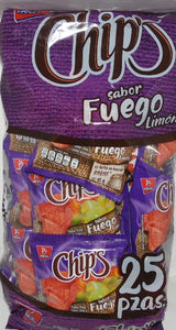 Mini Chips FUEGO 25 Pzas