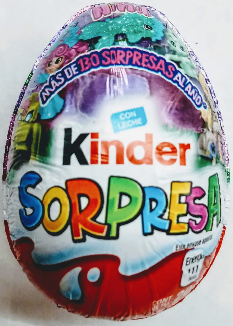 Chocolate Huevo Kinder Niña 1 pza 20g