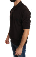 Brown Polo Short Sleeve T-shirt