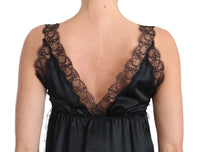 Lingerie Cami Black Lace Silk Stretch