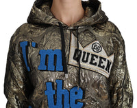 Im The Queen Jaquard Gold Sweatshirt  Hoodie