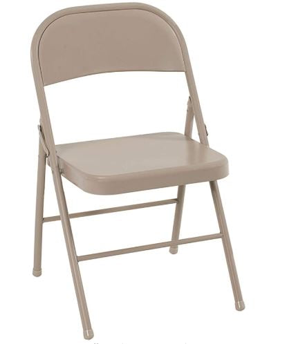 Metal Folding Chair Rental (Antique Linen) - SplashKits