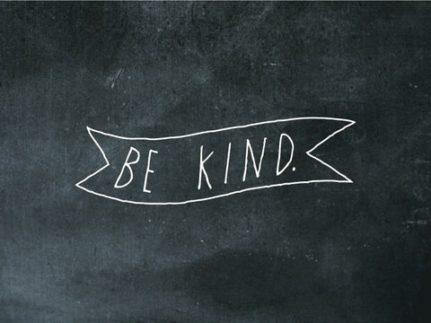 """be kind"" decal"