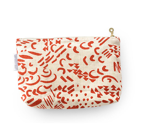 dashes and moons zippered pouch