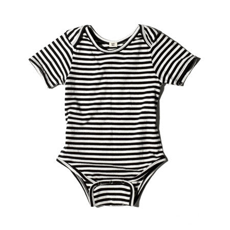 short sleeve striped onesie