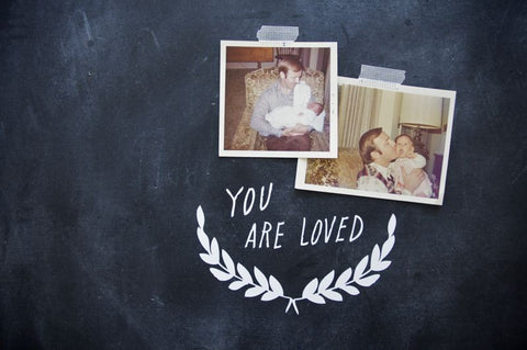 """you are loved"" decal"