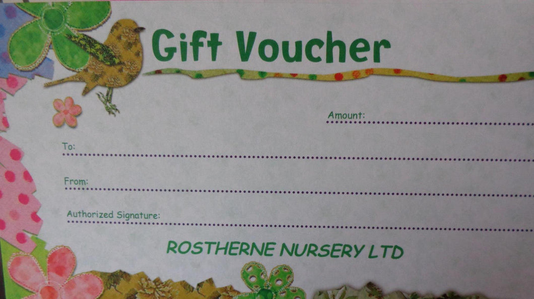 Rostherne Nursery Gift Vouchers