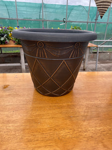 Antiqua large pot - black/gold