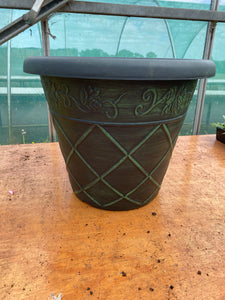 Antiqua large pot - green