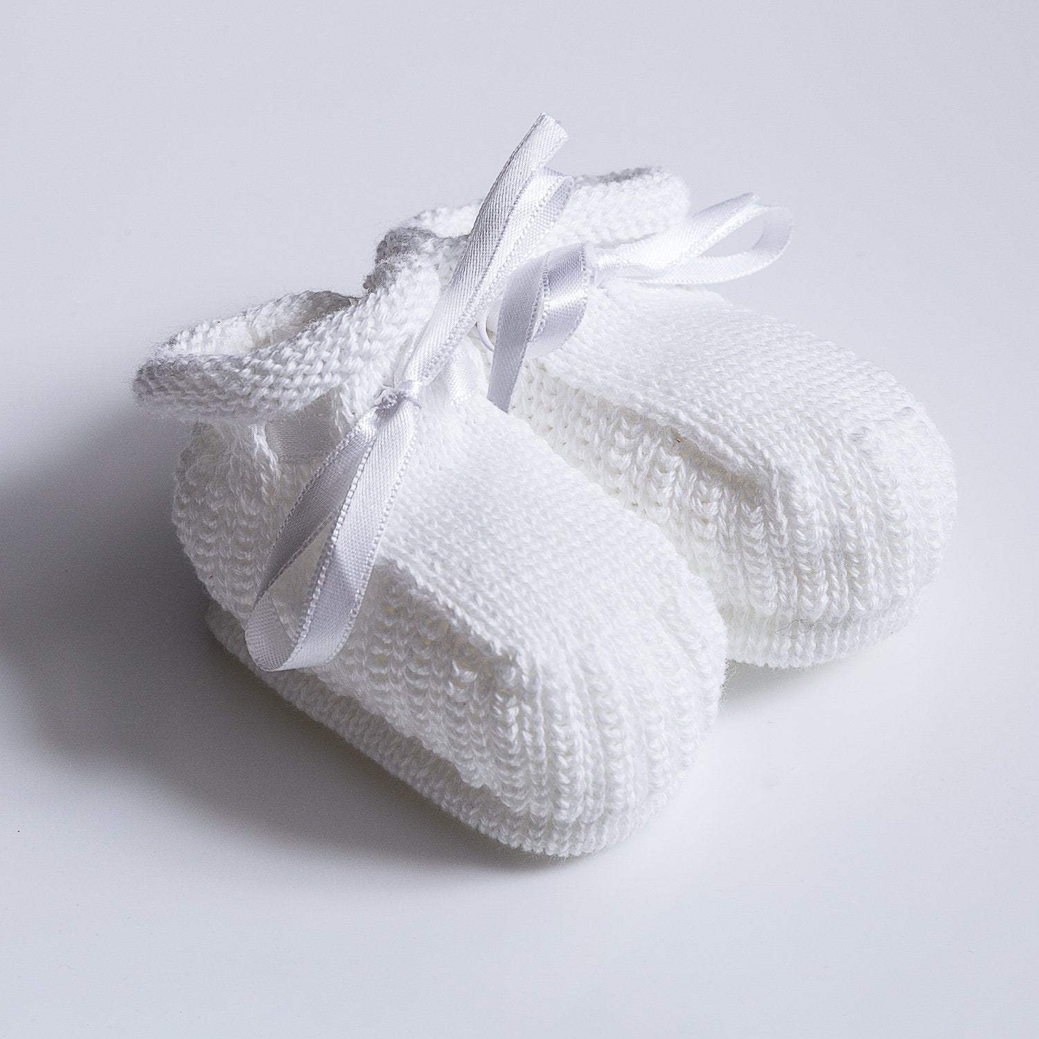 Knitted Booties ~ White