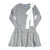 Knit Ribbed Bow Dress ~ Grey