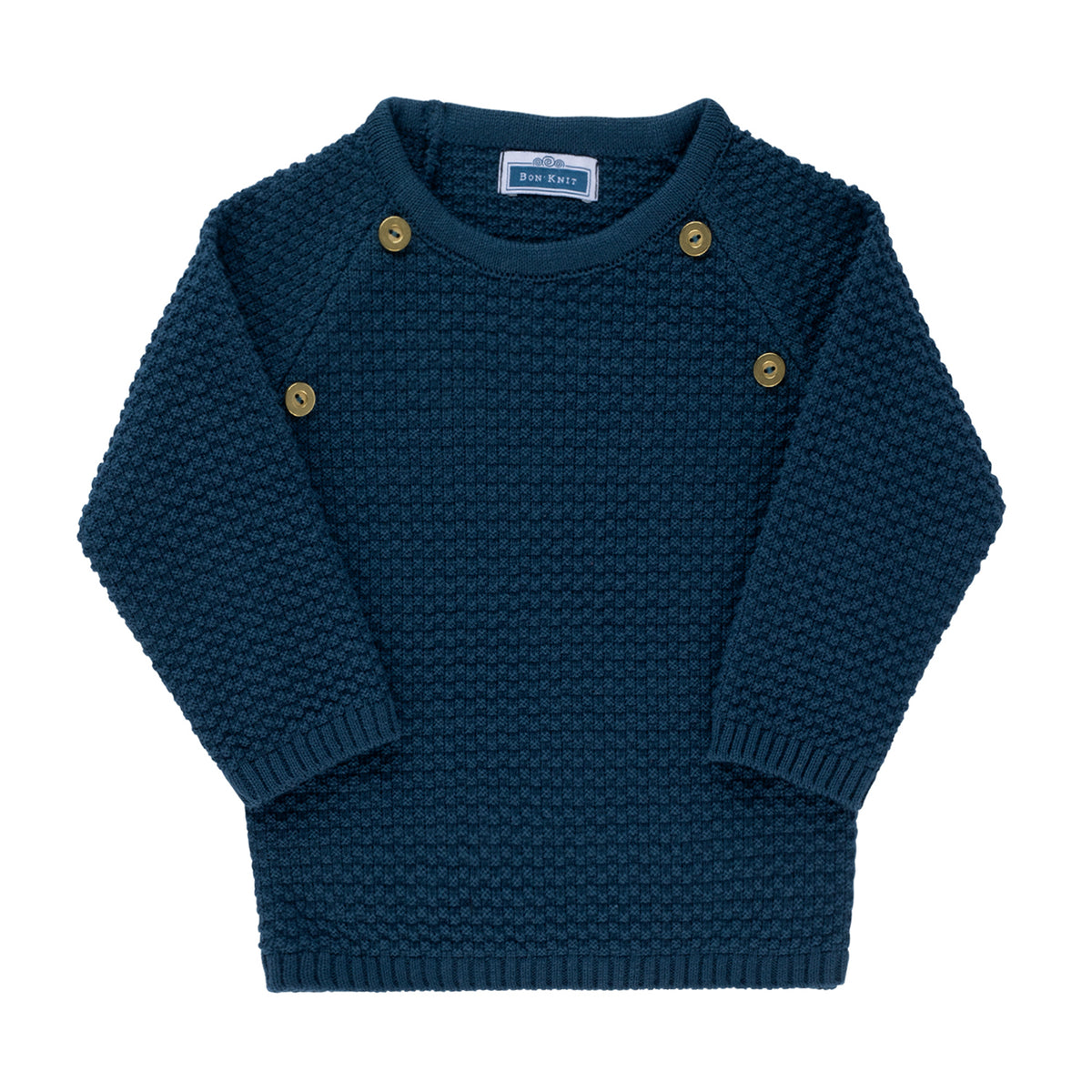 Waffle Sweater ~ Teal