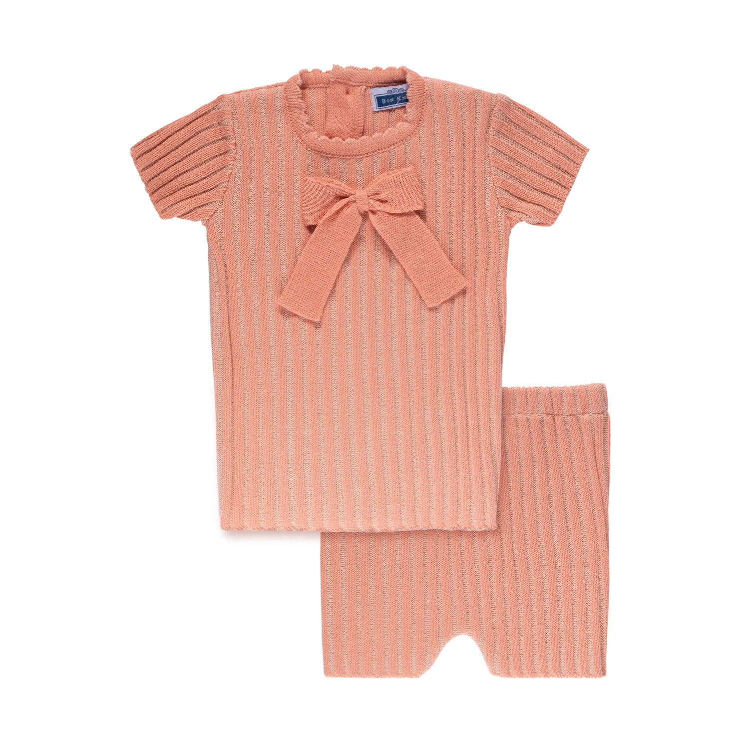 Ribbed Bow Set ~ Apricot