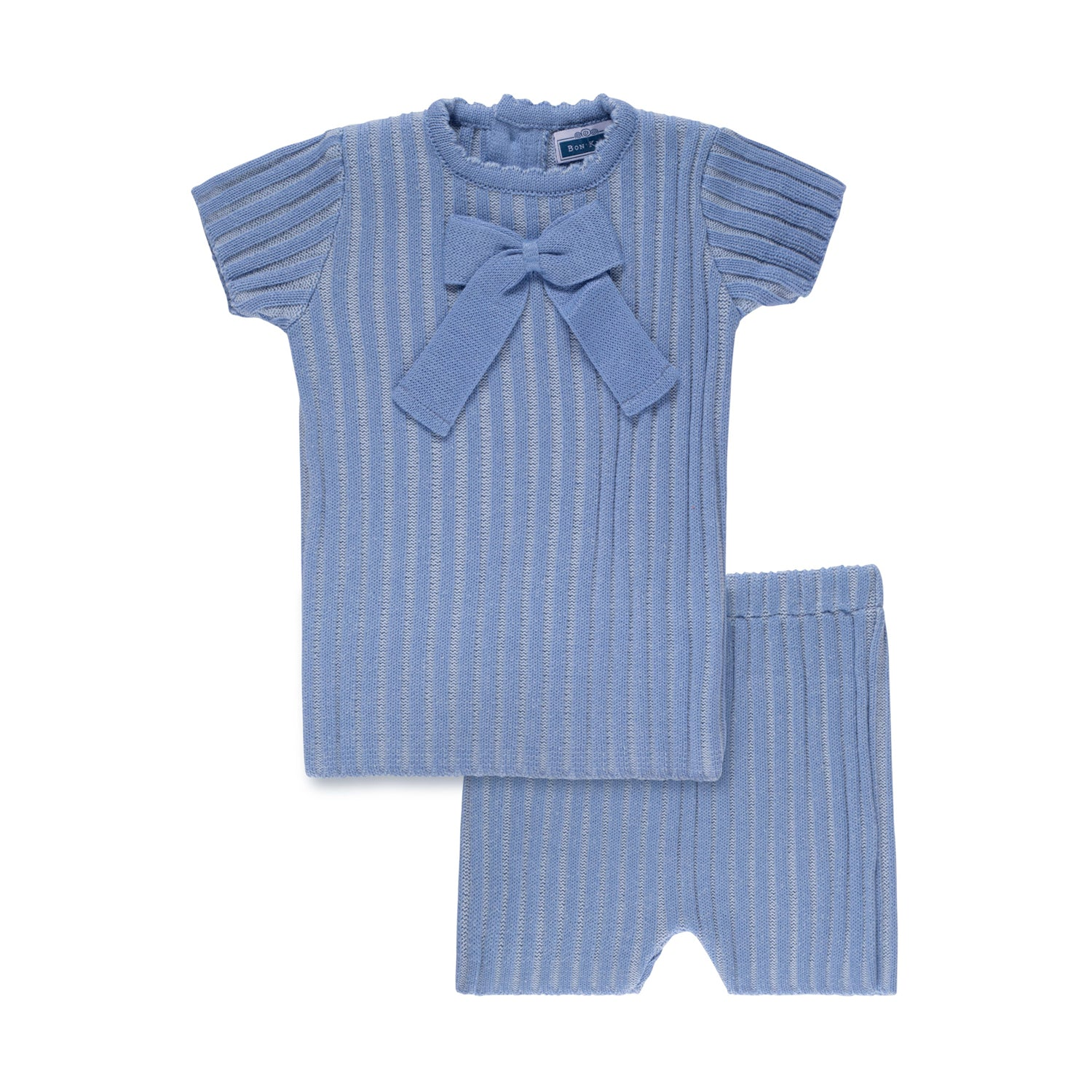 Ribbed Bow Set ~ Ocean Blue
