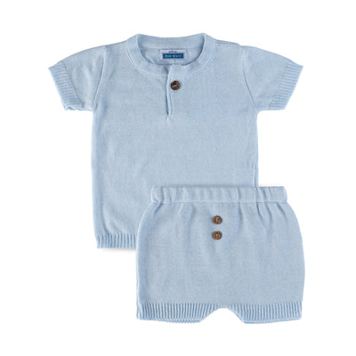 Three Button Set ~ Baby Blue