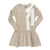 Knit Ribbed Bow Dress ~ Sand