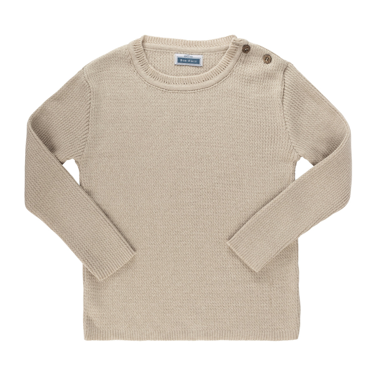 Knit Ribbed Top ~ Sand