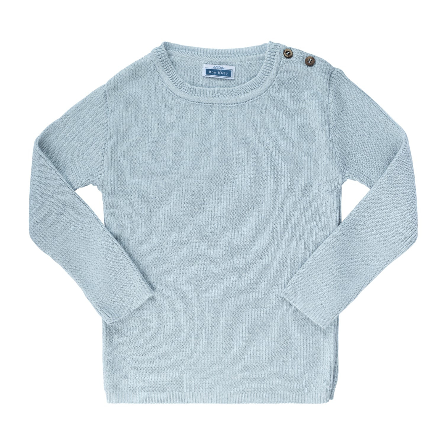 Knit Ribbed Top ~ Powder Blue