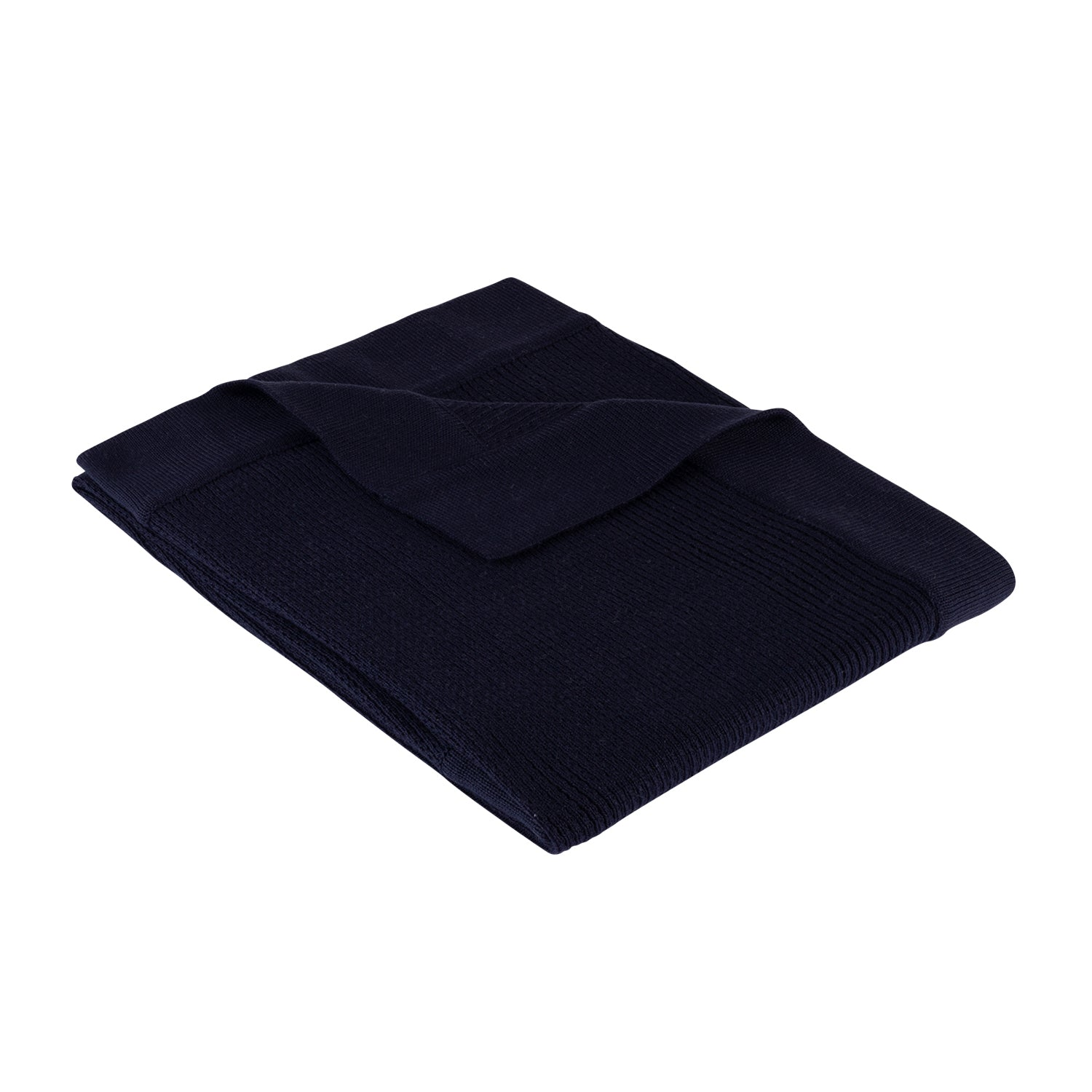 Ribbed Blanket ~ Navy