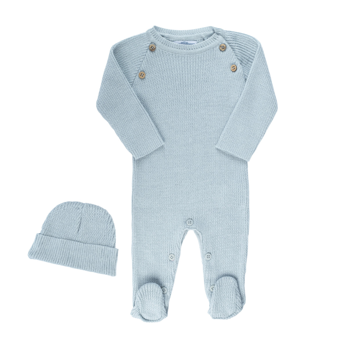 Knit Ribbed Stretchie Set ~ Powder  Blue