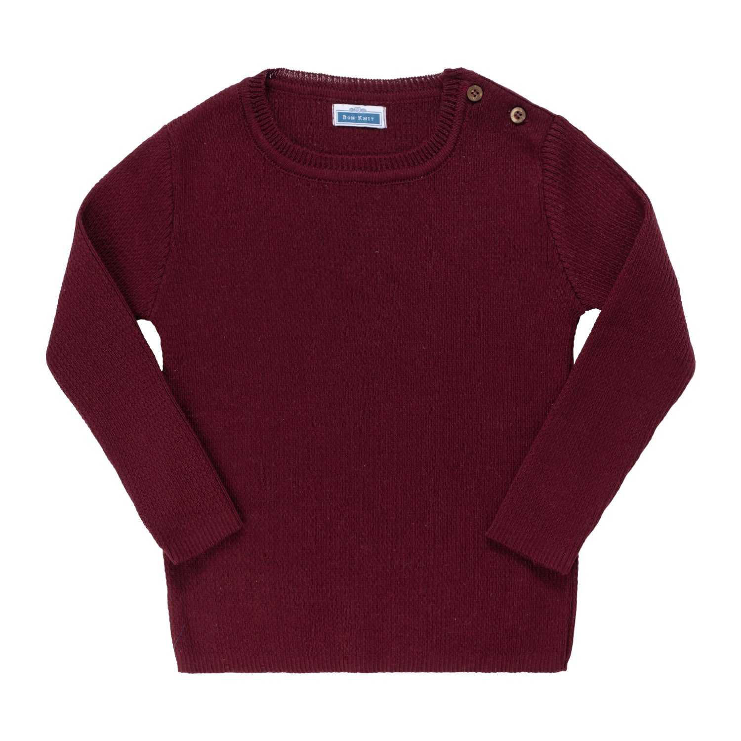 Knit Ribbed Top ~ Burgundy