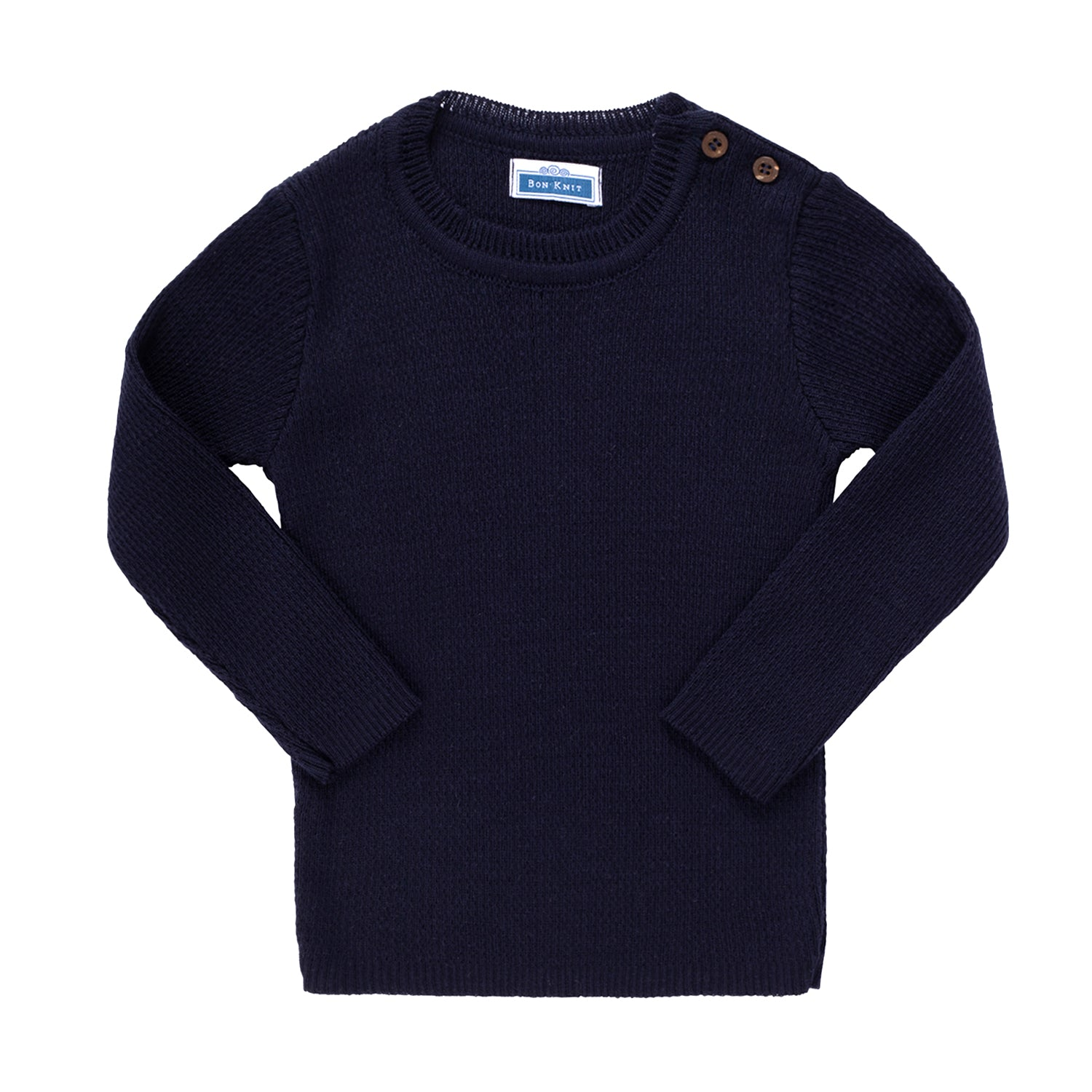 Knit Ribbed Top ~ Navy