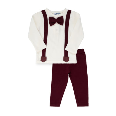 Suspender Set ~ Burgundy